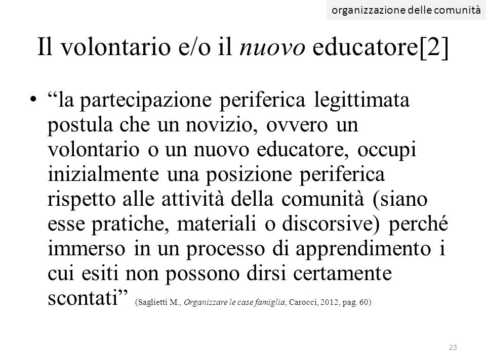 Il volontario e/o il nuovo educatore[2]
